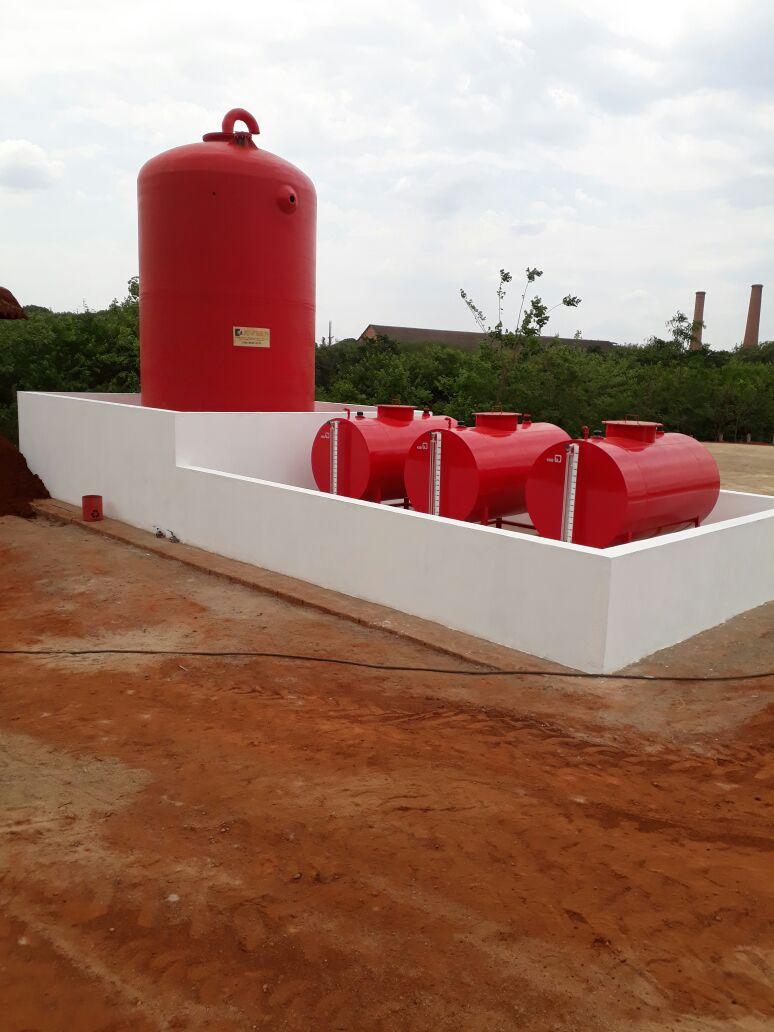 Dique de Contenção/Tanques de Oleo Diesel - Raizen Unidade Bonfim